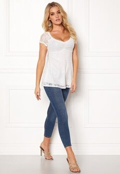 Happy Holly Benita lace top White Bubbleroom.se