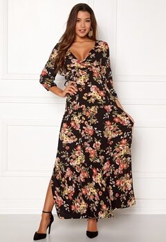 Happy Holly Betty maxi dress Black / Patterned Bubbleroom.se