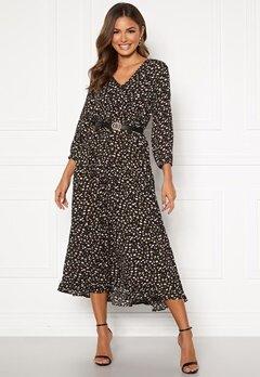 Happy Holly Bianka maxi  dress Black / Patterned Bubbleroom.se