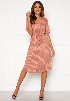 Happy Holly Blake dress Coral / Striped Bubbleroom.se