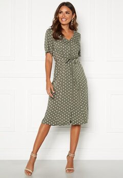 Happy Holly Blake dress Khaki green / Dotted Bubbleroom.se
