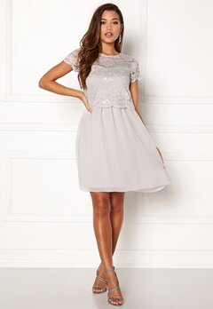 Happy Holly Blanche dress Light grey Bubbleroom.se