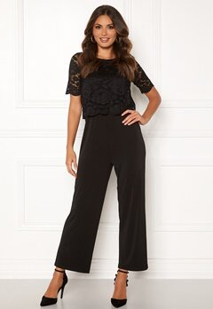 Happy Holly Blanche occasion jumpsuit  Black Bubbleroom.se