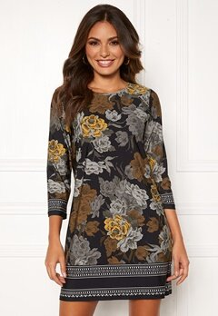 Happy Holly Blenda dress Black / Floral Bubbleroom.se