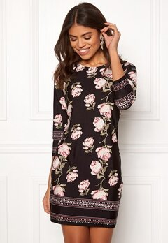 Happy Holly Blenda dress Black / Patterned Bubbleroom.se
