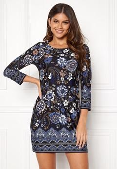 Happy Holly Blenda dress Blue / Patterned Bubbleroom.se