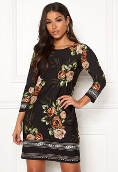 Happy Holly Blenda dress Brown / Floral Bubbleroom.se