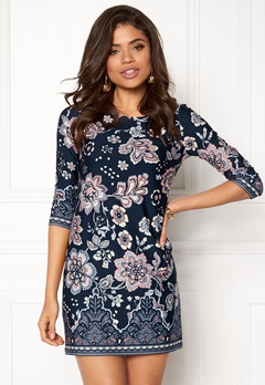 Happy Holly Blenda dress Dark blue / Patterned Bubbleroom.fi