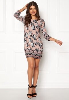 Happy Holly Blenda dress Light pink / Patterned Bubbleroom.se