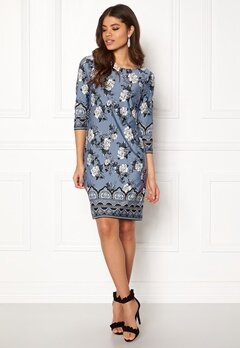 Happy Holly Blenda dress Medium blue / Patterned Bubbleroom.se