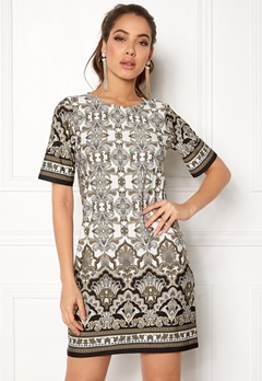 Happy Holly Blenda dress Mole / Patterned Bubbleroom.se