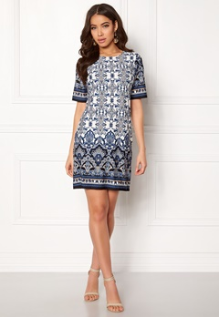 Happy Holly Blenda dress Offwhite / Patterned Bubbleroom.se
