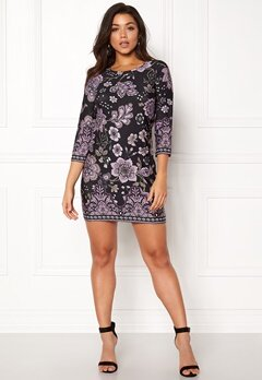 Happy Holly Blenda dress Purple / Patterned Bubbleroom.se