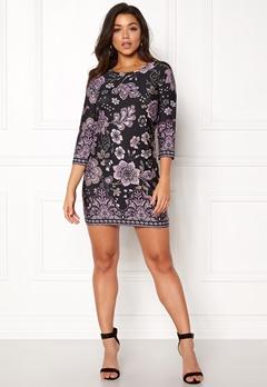 Happy Holly Blenda dress Purple / Patterned Bubbleroom.se