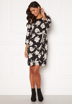 Happy Holly Blenda dress, with belt Floral Bubbleroom.se