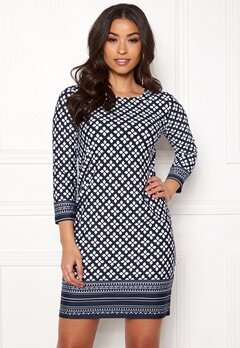 Happy Holly Blenda dress Dark blue / Patterned Bubbleroom.se