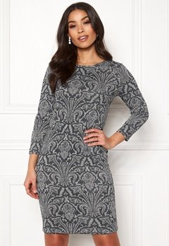 Happy Holly Blenda lurex dress Grey melange Bubbleroom.se