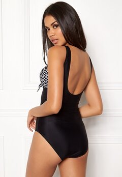 Happy Holly Blossom swimsuit Black / Patterned Bubbleroom.fi