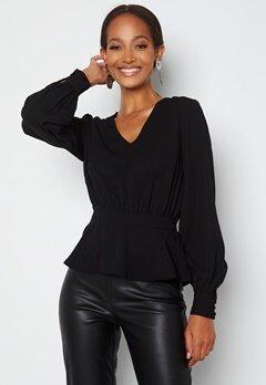 Happy Holly Bonnie blouse Black bubbleroom.se