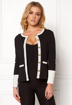 Happy Holly Calla cardigan Black / Offwhite Bubbleroom.se