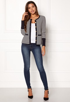 Happy Holly Calla cardigan Dark blue / Striped Bubbleroom.se