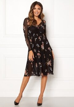 Happy Holly Cameron mesh dress Black / Patterned Bubbleroom.se