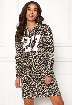 Happy Holly Camila tricot hood Leopard Bubbleroom.se