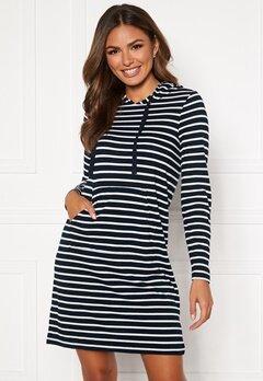 Happy Holly Camila striped tricot hood Dark blue / Striped Bubbleroom.se