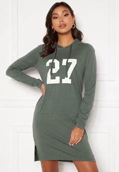 Happy Holly Camila tricot hood Khaki green Bubbleroom.se