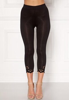 Happy Holly Flora Crop leggings Black Bubbleroom.eu