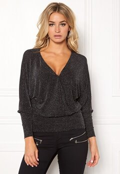 Happy Holly Caroline top Black / Silver Bubbleroom.fi