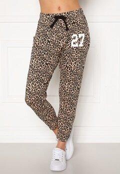 Happy Holly Carolyn pants White / Leopard / Black Bubbleroom.se