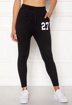 Happy Holly Carolyn tricot pants Black Bubbleroom.se
