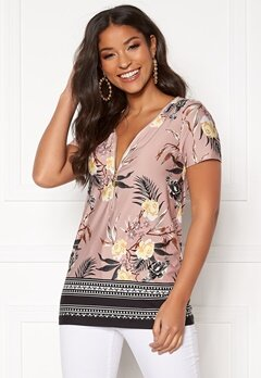 Happy Holly Carrie top Dusty pink / Patterned Bubbleroom.se