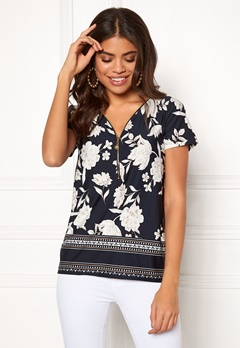 Happy Holly Carrie top Patterned / Dark blue Bubbleroom.se