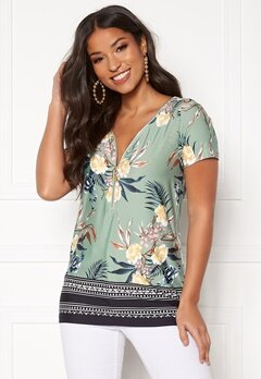 Happy Holly Carrie top Mint green / Patterned Bubbleroom.se