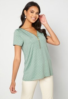 Happy Holly Carrie top Light mint / Offwhite Bubbleroom.se