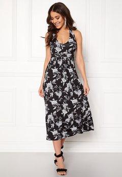 Happy Holly Cathrine halter dress Black / Offwhite Bubbleroom.se