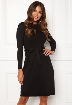 bef8cf3a96ec Happy Holly Cecile knitted dress Black Bubbleroom.se