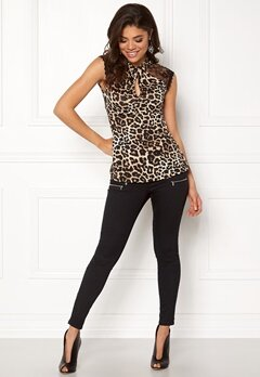 Happy Holly Charlene top Leopard Bubbleroom.dk