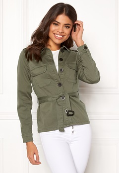 Happy Holly Cindy jacket Khaki green Bubbleroom.se