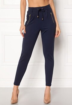 Happy Holly Cleo Trousers Dark navy Bubbleroom.se