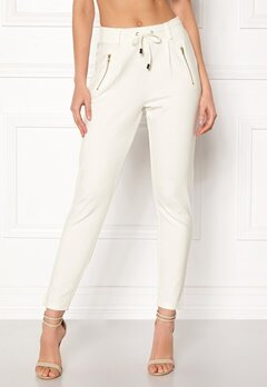 Happy Holly Cleo Trousers Light offwhite Bubbleroom.se