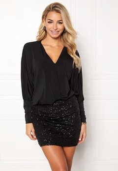Happy Holly Colette dress Black Bubbleroom.eu