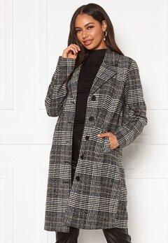 Happy Holly Corinne checked coat Checked / Black Bubbleroom.se