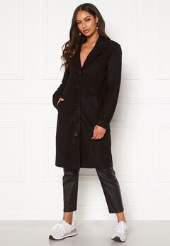 Happy Holly Corinne wool coat Black Bubbleroom.se