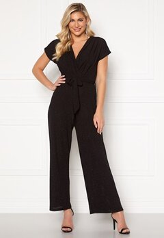 Happy Holly Cornelia sparkling party jumpsuit Black / Glitter Bubbleroom.se