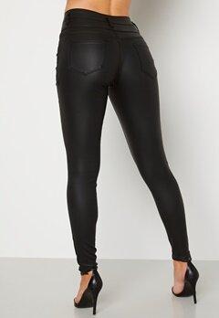 Happy Holly Daniella coated pants  Black Bubbleroom.se