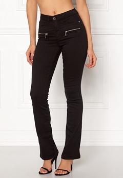 Happy Holly Debra bootcut jeans Black Bubbleroom.se