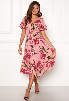 Happy Holly Denice dress Pink / Floral Bubbleroom.se